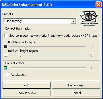 MSU Color Enhancement VirtualDub plugin