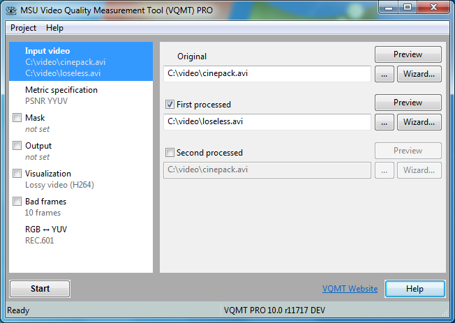 Windows 7 MSU Video Quality Measurement Tool 11.1 full