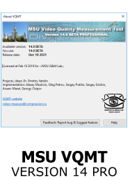 MSU Video Quality Measurement Tool: Download Page