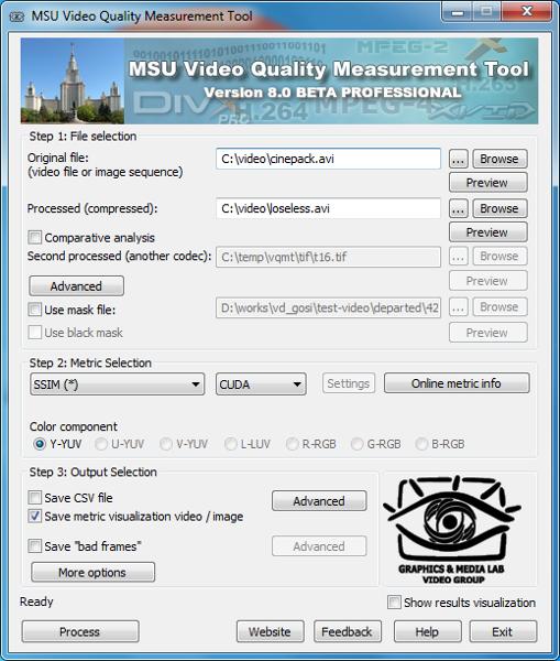MSU Video Quality Measurement Tool
